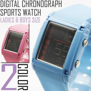 腕時計 メンズ レディース 送料無料 送料無料 1年保証 ボーイズ & レディース アーバン デジタル ラバーベルト 腕時計 全2色 保証書付き WT-FA 0607|styleon