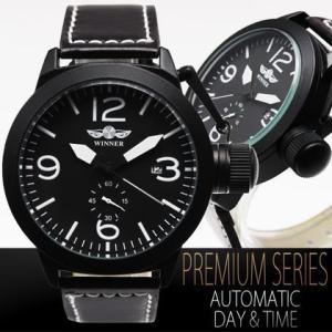 自動巻き 腕時計 メンズ 送料無料 1年保証 リューズプロテクタ 仕様 ミリタリー 自動巻き ビッグフェイス 腕時計 BOX 保証書付き WT-PR 0210|styleon