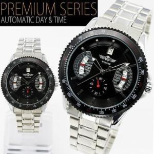 自動巻き 腕時計 メンズ 送料無料 1年保証 カレンダー 機能付き 自動巻 バックスケルトン 腕時計 BOX 保証書付き WT-PR 1210|styleon