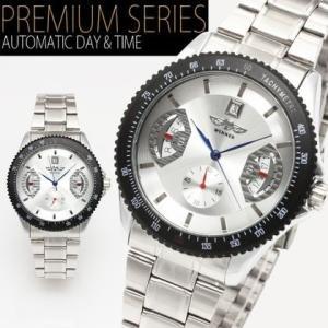 自動巻き 腕時計 メンズ 送料無料 1年保証 カレンダー機能付き 自動巻き バックスケルトン 腕時計 BOX 保証書付き WT-PR 0725|styleon