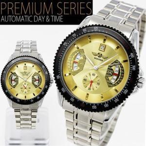 自動巻き 腕時計 メンズ 送料無料 1年保証 カレンダー機能付き 自動巻き バックスケルトン 腕時計 BOX 保証書付き WT-PR 1210|styleon