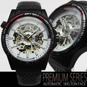 自動巻き 腕時計 メンズ 送料無料 1年保証 インナーダイアル 仕様 フルスケルトン ビッグフェイス 自動巻き 腕時計 BOX 保証書付 WT-PR |styleon