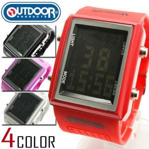 腕時計 メンズ レディース OUTDOOR アウトドア プロダクツ 1年保証 BOX付き 全4色  アーバン デジタル 腕時計 WT-FA|styleon