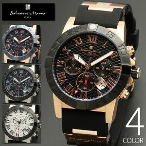 10気圧防水 クロノグラフ 腕時計 メンズ 1年保証 全4色 正規 Salvatore Marra ...