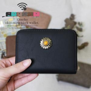 コインケース レディース ミニ 財布 小型財布 ラウンドファスナー ウエスタン コンチョ ボタン 小銭入れ ミニ 財布 大容量 軽量 コンチョボタン|styleonbag