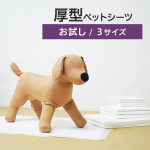 【お試し】お試し厚型 ペットシーツ ペットシート 犬 トイレシート おしっこシート 犬用 ペットトイ...