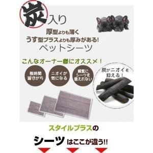 厚型炭入り ペットシーツ スーパーワイド(ダブルワイド ) 100枚(25枚×4個入) ペットシート トイレシート  styleplus 02