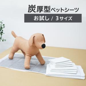 【お試し】炭入り厚型ペットシーツ ペットシート 犬 トイレシート おしっこシート 犬用 ペットトイレ...