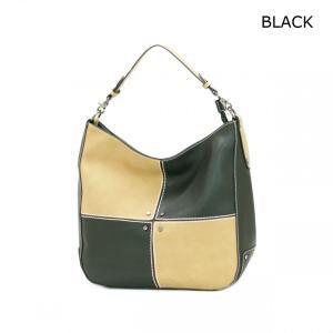 GUSCIO グッシオ 12-0789 パッチワーク配色 ワンショルダートートバッグ|stylewebdirect