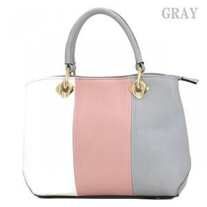 GUSCIO グッシオ 12-0899 スクエア型 3色配色 2WAYハンドバッグ|stylewebdirect