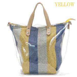 GUSCIO グッシオ 12-0903 インナーキャンバスバッグ付き 2way クリアハンドバッグ|stylewebdirect