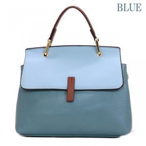 GUSCIO グッシオ 12-0908 2WAYハンドバッグ スクエア型 配色 アクセント金具|stylewebdirect