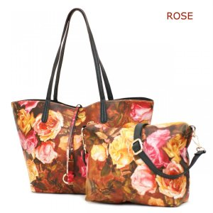 GUSCIO グッシオ リバーシブル×バッグインバッグ仕様 花柄プリント3WAYトート 17-0537|stylewebdirect