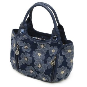 SAVOY サボイ デニム地に花柄を合わせたバッグ 33SM15416401|stylewebdirect
