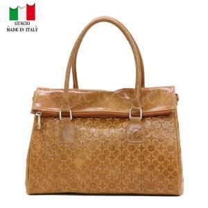 GUSCIO グッシオ 77-0135 2WAYハンドバッグ ショルダー付き 花型押し|stylewebdirect
