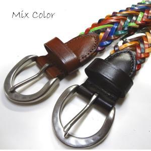 reccurence リクレンス NS0664PMX 35mm牛革メッシュベルト|stylewebdirect