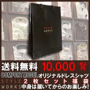 ワイシャツ  長袖ドレスシャツ 中身は届いてからのお楽しみ! 2枚組みセット 送料込み10,000円...