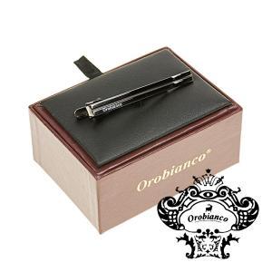 タイピンオロビアンコ Orobianco タイバー ネクタイピン ブラックシルバー ライン ORT5...