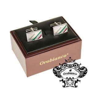 オロビアンコ Orobianco カフリンクス カフスボタン スクエア ブランドネーム イタリアンフ...