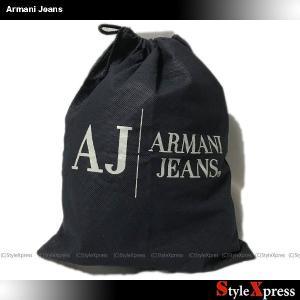 アルマーニジーンズ Armani Jeans 巾着袋 バッグ 小物入れ 紺|stylexpress