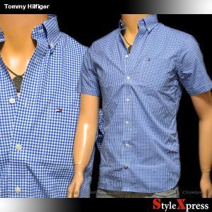 トミーヒルフィガー Tommy Hilfiger 半袖シャツ ギンガムチェック メンズ|stylexpress