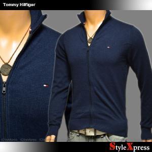 トミーヒルフィガー TOMMY HILFIGER カシミア混 セーター ニットジャケット メンズ 小難ありXS|stylexpress