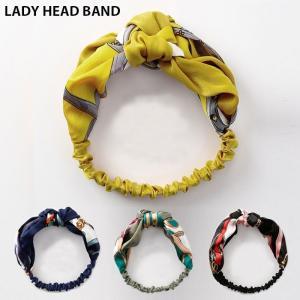 ●ITEM:レディース ターバン ヘアアクセサリー スカーフ柄 カチューシャ チェーン柄 ヘアバンド...