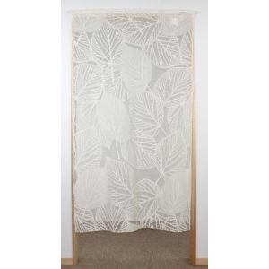 (日本製)間仕切りカーテン Funny String プランタン ホワイト(白) 幅95cmx丈198cmの写真