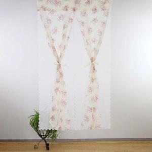 洋柄のれん「ガーデンローズ 横85cm×高さ150cm」 (1点のみ ゆうパケット対応商品)の写真