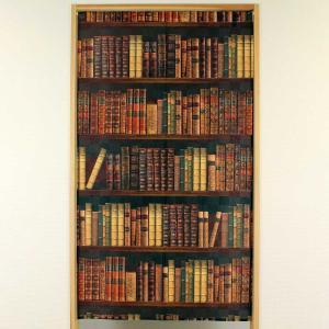 タペストリー&のれん「BOOK SHELF(本棚) 横85cm×高さ150cm」(日本製)(条件付き送料無料)の写真