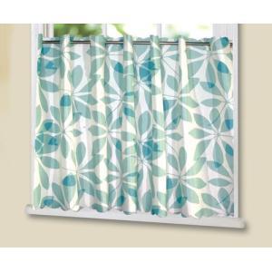 小さなカーテン カフェカーテン 撥水カフェ リーフ 幅145cm×高さ75cm(ゆうパケット対象商品) stylish-interior