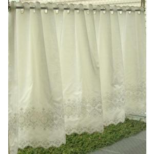 小さなカーテン カフェカーテン エンブスクエア幅150cm×高さ60cm  北欧 カフェ スタイルカーテン(ゆうパケット対象商品) stylish-interior