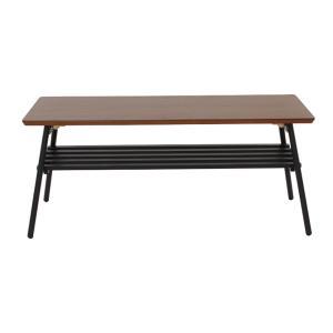 高さ39cmのセンターテーブル ブラウン、ナチュラル、ホワイト 横90cm×奥行40cm×高さ39cm 木目が美しい仕上がりでデザインを追求したテーブル
