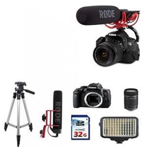 カメラ、キャノンCanon EOS Rebel T6i DSLR EOS Video Creator kit + Rode VIDEOMIC GO + Canon EF-S 18-135mm f/3.5-5.6 IS STM Lens + 32GB Commander Memory