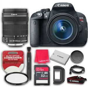 カメラ、キャノンCanon EOS Rebel T5i 18.0 MP CMOS Digital Camera HD Video& EF-S 18-135mm f/3.5-5.6 IS STM Lens with 32GB Pro Speed Class 10 SDHC