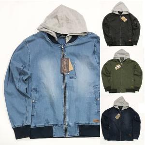 クローゼット フード付き MA-1タイプ デニムジャケット CLOTHETE CLJK18128 メンズ レディース ストリート suave-tribe