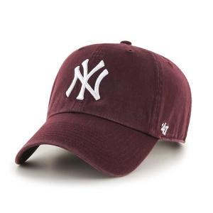 ニューヨークヤンキース キャップ Yankees '47 CLEAN UP Dark Maroon RGW17GWS KM  フォーティーセブン|suave-tribe