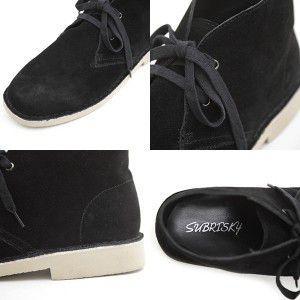 SUBRISKY(サブリスキー) シークレットシューズ 脚長6cmUP デザートブーツ  ブラック|subrisky|03