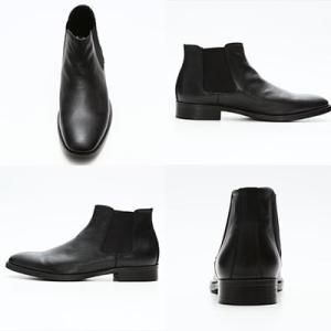 サイドゴアブーツ メンズ 送料無料 ブラック シューズシークレットブーツシークレットシューズインヒール6cmUP靴くつ25cm26cm27cmスタイリッシュメンズシューズ|subrisky|02