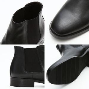 サイドゴアブーツ メンズ 送料無料 ブラック シューズシークレットブーツシークレットシューズインヒール6cmUP靴くつ25cm26cm27cmスタイリッシュメンズシューズ|subrisky|03