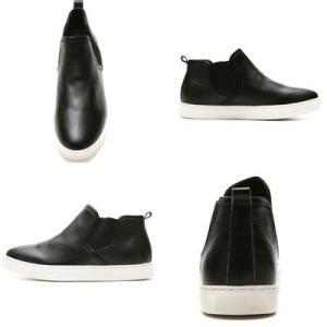 レザーサイドゴアスニーカー メンズ 送料無料 ブラック シューズ シークレットブー ツシークレットシューズ インヒール 6cmUP 靴くつ|subrisky|02