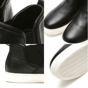 レザーサイドゴアスニーカー メンズ 送料無料 ブラック シューズ シークレットブー ツシークレットシューズ インヒール 6cmUP 靴くつ|subrisky|03