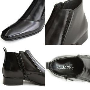 SUBRISKY(サブリスキー) シークレットシューズ シークレットブーツ サイドジップブーツ ブラック|subrisky|03
