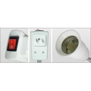 コンセントソケット 口金E26  スイッチ付き 電球ソケット変換アダプター 全長260mm|succul-shop|02