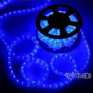 電源付き LEDチューブライト ロープライト ブルー 青 2芯タイプ/10m/直径10mm/300球 クリスマスイルミネーション|succul-shop