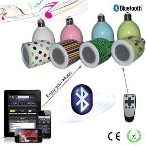 BluetoothスピーカーLED電球 LEDライトスピーカー ワイヤレススピーカー Bluetoothスピーカー搭載 LED電球 E26口金対応 (カバー色:ホワイト,発光色:電球色)|succul-shop