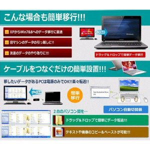 2台のパソコン画面 モニターを1台に表示 PC ネクストライン 簡単切替 USB 自動切替 ドラッグ ドロップ コピー ペースト|succul-shop|04