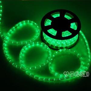 電源付き LEDチューブライト ロープライト グリーン 緑 2芯タイプ 10m 直径10mm 300球 クリスマスイルミネーション|succul-shop