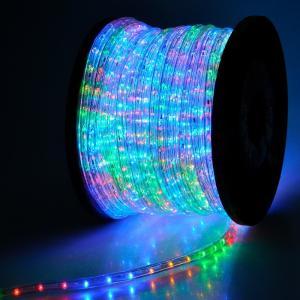 電源付き LEDチューブライト ロープライト 4色 ミックスカラー 2芯100m 直径10mm 3200球 クリスマスイルミネーション|succul-shop