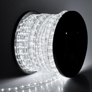 電源付き LEDチューブライト ロープライト ホワイト 白 2芯100m 直径13mm 3000球 クリスマスイルミネーション|succul-shop